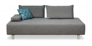 ALESSIA - Sofa 2,5 Platz in grauem Webstoff in Pfeffer-Salz Optik