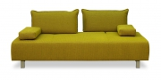 ALESSIA - Sofa 2,5 Platz in senffarbenem, grobgewebtem Stoff