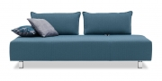 ALESSIA - 2,5 Platz Sofa in Stoff grau blau
