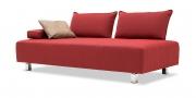 ALESSIA - Sofa 2,5 Platz in rotem Stoff
