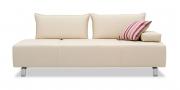 ALESSIA - Sofa 2,5 Platz in Leder Prescott Marble