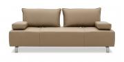 ALESSIA - 2,5 Platz Sofa in Leder Jumbo cocos mit Effektnaht