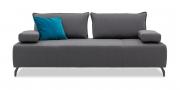 ALESSIA - 2,5 Platz Sofa mit mobilen Armlehnen in Stoff S&V Comfort grau