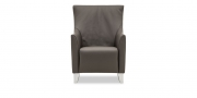 ALF - Sessel mit hoher Rückenlehne in Leder Jumbo taupe