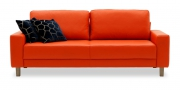 AMICA - 2,5 Platz Sofa in Leder orange