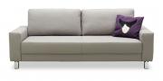 AMICA - 2,5 Platz Sofa in Leder hellgrau
