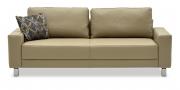 AMICA - 2,5 Platz Sofa in Leder grau/beige