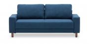 AMICA - 2,5 Platz Sofa in blauem, feingewebtem Stoff