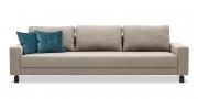 AMICA - 3 Platz Sofa im Sondermaß in Stoff S&V Basic Comfort beige grau