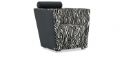 ARTHE - Sessel in Stoff S&V Elegant Gloria Zebra schwarz weiß