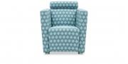 ARTHE - Sessel in Stoff Höpke London blau weiß