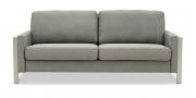ARUBA - 2,5 Platz Sofa in grau meliertem Stoff