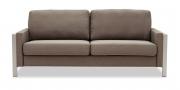 ARUBA - 2,5 Platz Sofa in braun meliertem Stoff