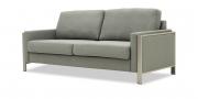 ARUBA - 2,5 Platz Sofa in grau meliertem Stoff in seitlicher Ansicht
