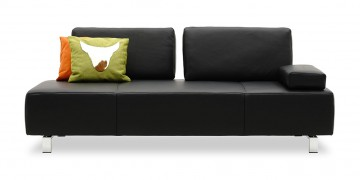 ASTOR - 2,5 Platz Sofa mit 2 verstellbaren Rücken in Leder Rustik anthrazit