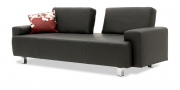 ASTOR - 2,5 Platz Sofa in Leder Club anthrazit