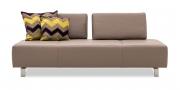 ASTOR - 2,5 Platz Sofa in Leder Napoli clay mit Dekokissen