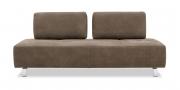 ASTOR - 2,5 Platz Sofa mit verstellbaren Rücken in Leder Pamplona fango