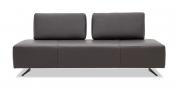 ASTOR - 2,5 Platz Sofa mit beweglichen Rücken in Leder Jumbo marron