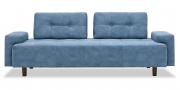 ASTORIA - 2,5 Platz Sofa mit festen Armlehnen im Stoff blau
