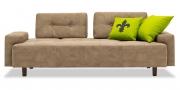 ASTORIA - 2,5 Platz Sofa mit festen Armlehnen im Stoff HF Buffalo sand