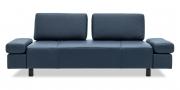 ATTICO - 2,5 Platz Sofa mit verstellbaren Rücken in grau-blauem Leder
