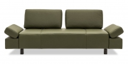 ATTICO - 2,5 Platz Sofa mit verstellbaren Rücken im Leder Prescott Birch