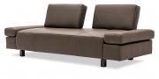 ATTICO - 2,5 Platz Sofa mit verstellbaren Rücken in braunem Leder