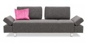 ATTICO - 2,5 Platz Sofa mit beweglichen Rücken in grauem Stoff Sonnhaus Dover
