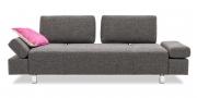 ATTICO - 2,5 Platz Sofa mit verstellbaren Rücken in grauem Stoff Sonnhaus Dover