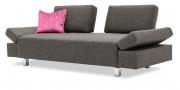 ATTICO - 2,5 Platz Sofa mit beweglichen Rückenteilen in grauem Stoff Sonnhaus Dover