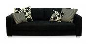 BASIC - 3 Platz Sofa in schwarzem Stoff