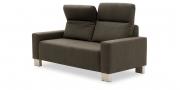 BATIDA - 2 Platz Sofa mit Armlehnen Amica im Stoff Verotex Perfection in grau-braun