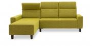 BATIDA - 2 Platz  Sofa mit Longchair im Stoff Amanda
