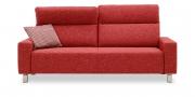 BATIDA - 2,5 Platz Sofa im Stoff Como rot