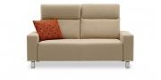 BATIDA - 2 Platz Sofa in Mikrofaser Like Suede natur