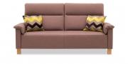 BATIDA - 2,5 Platz Sofa im Stoff Canvasbione hellbraun