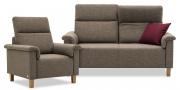 BATIDA - 2 Platz Sofa und Sessel in braunem Stoff HF Como
