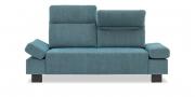 BATIDA - 2 Platz Sofa mit Finesse Armlehnen in blauem Stoff JAB Unito