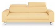 BEGUM - 2,5 Platz Sofa Leder beige