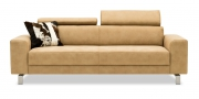 BEGUM - 2,5 Platz Sofa im Stoff Sonnhaus Vintage Style Dallas beige