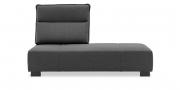BELUGA - 2,5 Platz Sofa mit einem vestellbaren Rücken in grauem Stoff