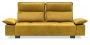 BELUGA - 2,5 Platz Sofa mit zwei vestellbaren Rücken in gelben Leder