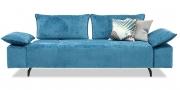 ALESSIA mit Armlehne BELUGA - 2,5 Platz Sofa in Stoff Aurum Levante Velvet hellblau