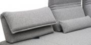 BONO - Detailbild Sofa beweglicher Rücken in Stoff hellgrau