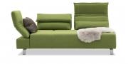 BONO - 2,5 Platz Sofa mit verstellbaren Rücken in Stoff S&V Magic grün