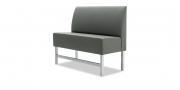 CF100 - Sitzbank in grauem Kunstleder