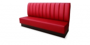 CF101 - Sitzbank in rotem Leder