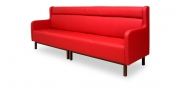 CF110 - Sitzbank in rotem Leder