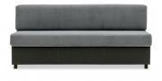 CF400 - Sitzbank in kombination mit grauem Stoff und schwarzem Leder
